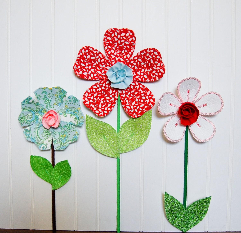 flower garden children wall decal red by leilasflowergarden