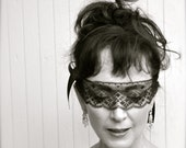 Lace mask. Masquerade ball, New Year's, Audrey, Marie. Feminine, sexy mask or blindfold. Ready to ship.