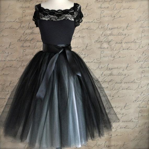 tulle tutu skirt for in black and silver ballerina