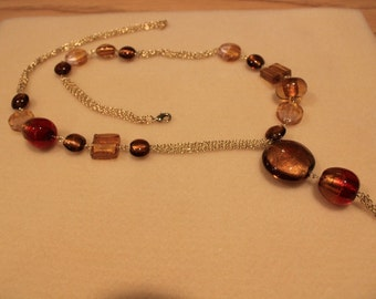 Amber and Gold Pendent
