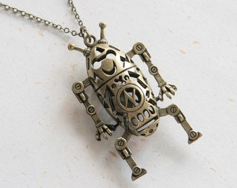 Robot Necklace (N322)