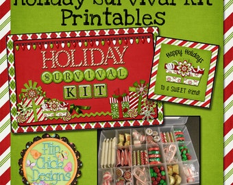 Holiday Survival Kit Printables