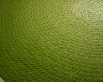 Shades of greenery created from New Organic cotton from the USA