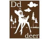 D is for Deer 8x10 inch print