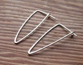 Long Triangle Hoop Earrings in Sterling Filled, Isosceles