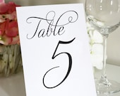 Table Numbers - Any Color - 5x7""