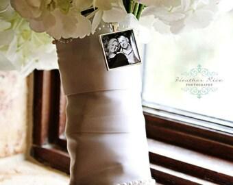 Bridal Bouquet Charm Custom Photo Wedding Keepsake Personalized Engagement Photo Memorial