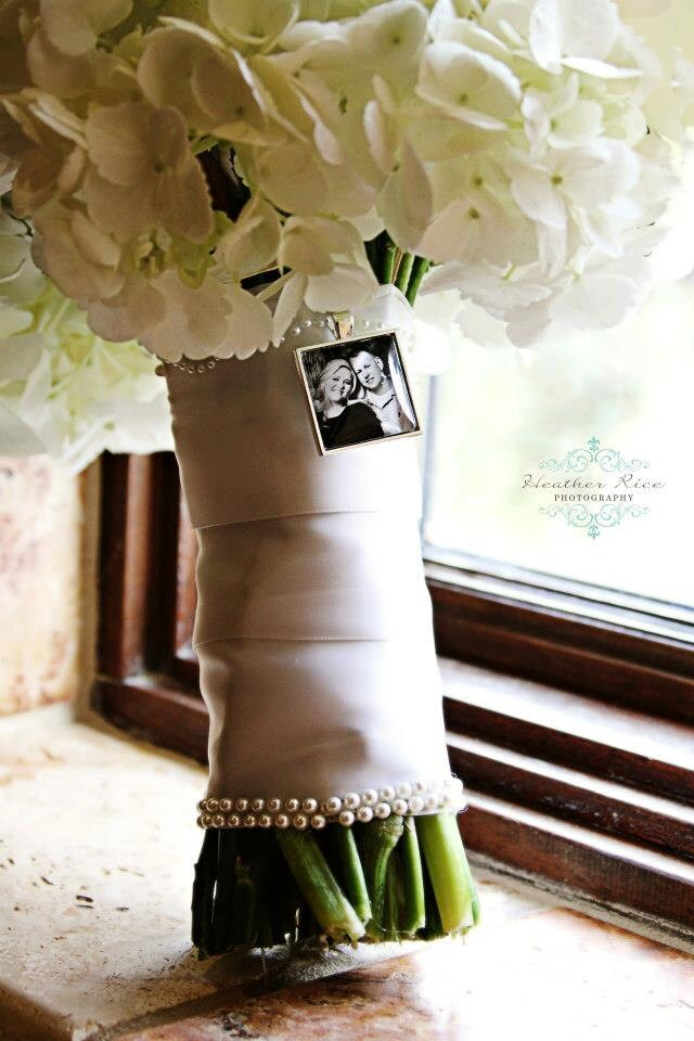 bridal bouquet charm custom photo wedding keepsake