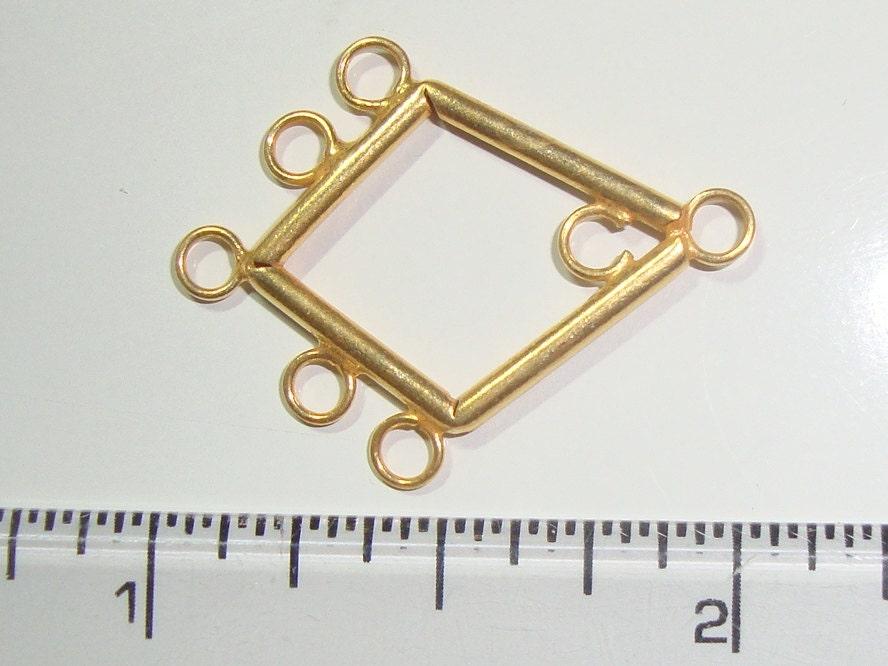 Gold Vermeil Lovely Diamond Chandelier 2 Pcs 25x20mm