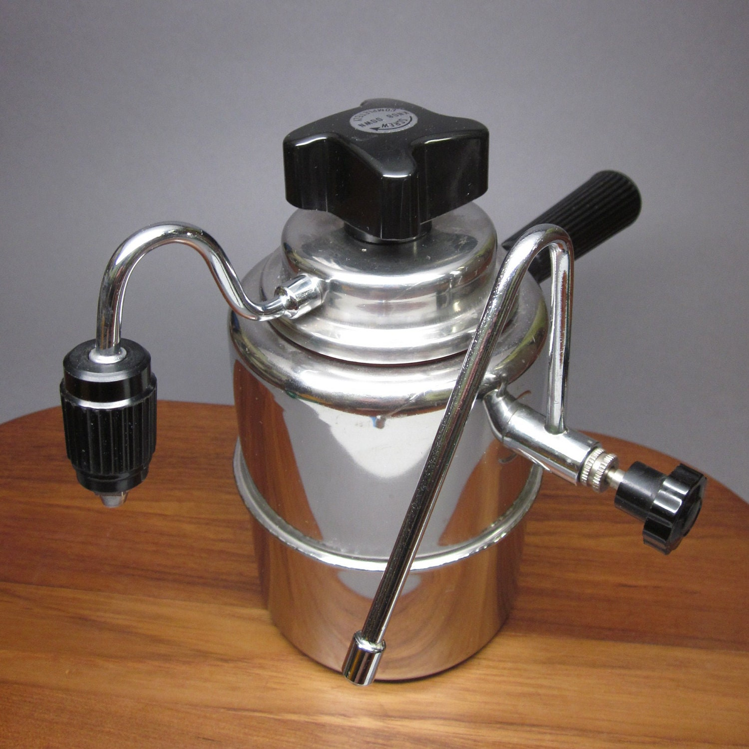 Elebak Stovetop Espresso Maker & Milk Frother Stainless