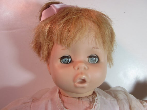 vintage 1964 mattel pattaburp baby doll, original outfit