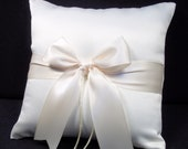 Ivory or White Wedding Ring Bearer Pillow