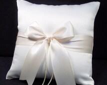 Ivory or White Wedding Ring Bearer Pillow