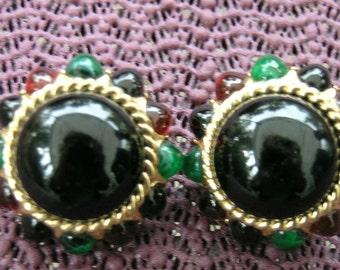Vintage GRIPOX CINER Earrings signed  runway  high end 1980's Earrings signed Ciner