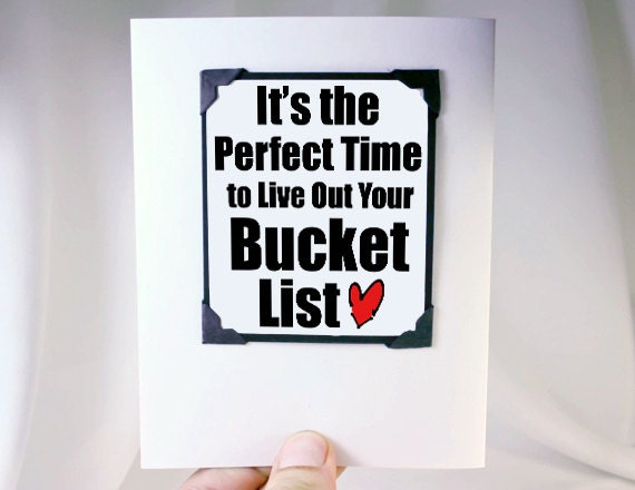 Inspirational Bucket List Quotes Bucket List Quote Card