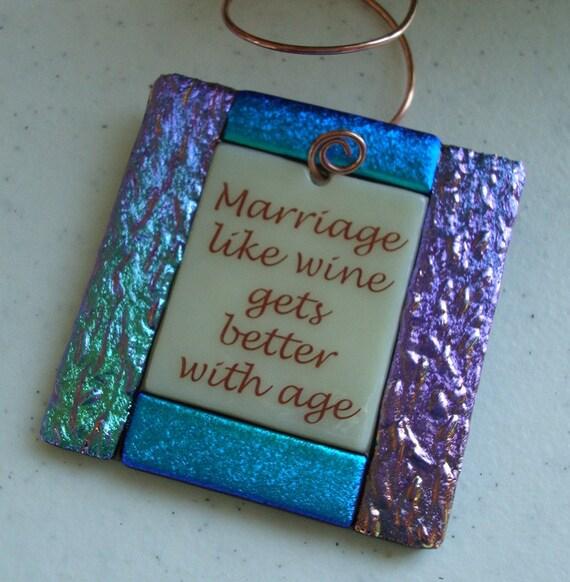 Wine Bottle Charms - Marriage like wine..