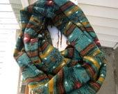 Tribal Print Jersey Knit Infinity Scarf