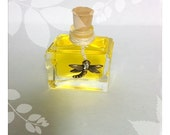 FRANGIPANI Perfume Handcrafted with Dragon Fly Charm and Tiger Print Bag  Organic  FREE SHIPPING Usa