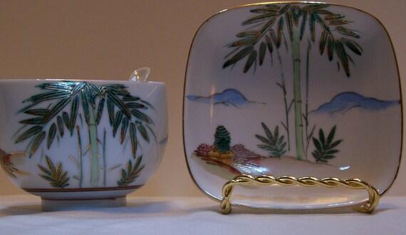 Soup Bowl, Bamboo Soup Bowl, Japanese Soup Bowl And Saucer, Fujita Kutani, Made In Japan