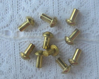 Solid Brass Rivets 3/32 hole x 3/16 length