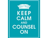 Keep Calm and COUNSEL ON (Psychologist Couch) - Art Print (Featured in Oceanic Blue) Keep Calm Art Prints and Posters