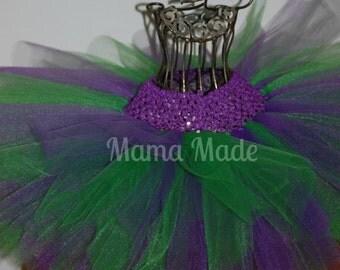 Purple and Green Tutu,green and purple tutu,turtle tutu,girls tutu, flower girl tutu, birthday tutu, wedding tutu,newborn tutu,tutu