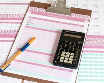 Finance Planner & Budget Tracker - Printable Planner Templates - Editable PDF