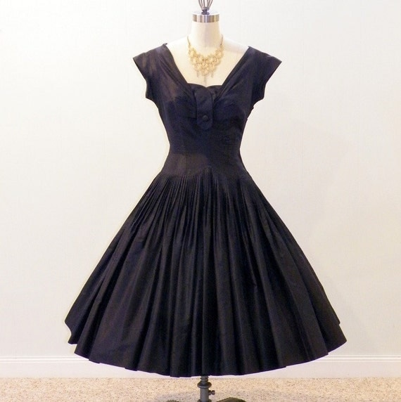 1950s Party Dress 50s Full Circle Skirt Dress Seymour
