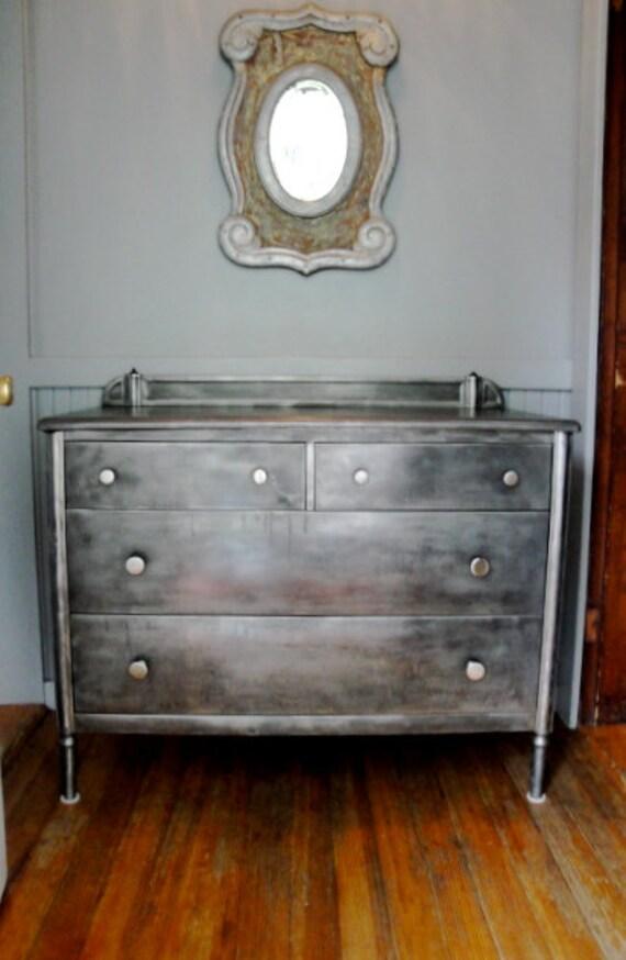 ON HOLD Vintage industrial steel dresser