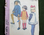 1971 Pinafore & Dress or Jumper Pattern, McCalls 2967, Size 2