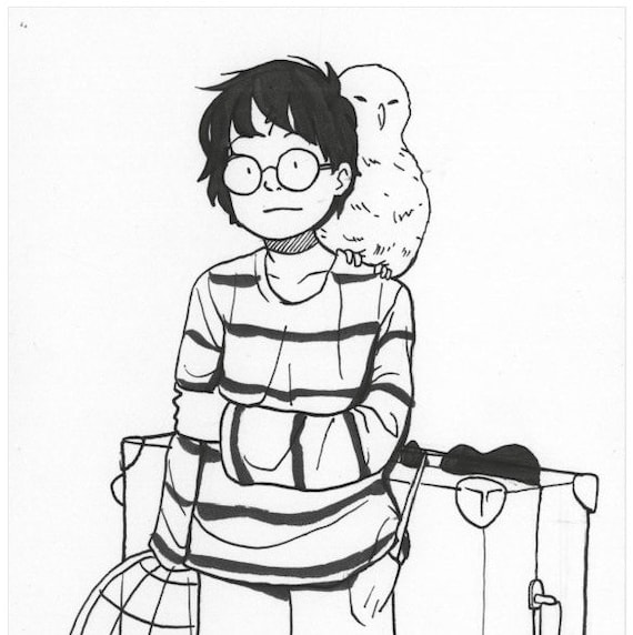 Young Harry Potter by Natalie Nourigat