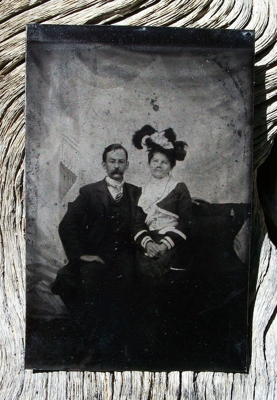 Tintype In Vogue Couple