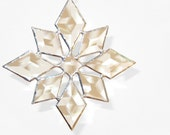 Stained Glass Star Sun Catcher Suncatcher Snowflake Christmas Beveled (9bv Large) Handmade OOAK - FleetingStillness
