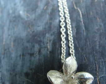 4 Petal Succulent Necklace -- Flower Necklace -- Nature Organic Jewelry -- Ready to Ship