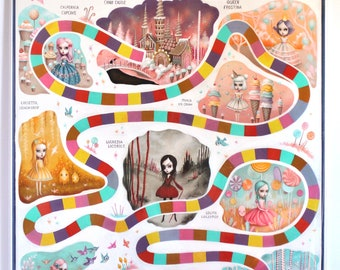 Candyland - The Story - Limited Edition signed and numbered 16x20  Fine Art Print -unframed