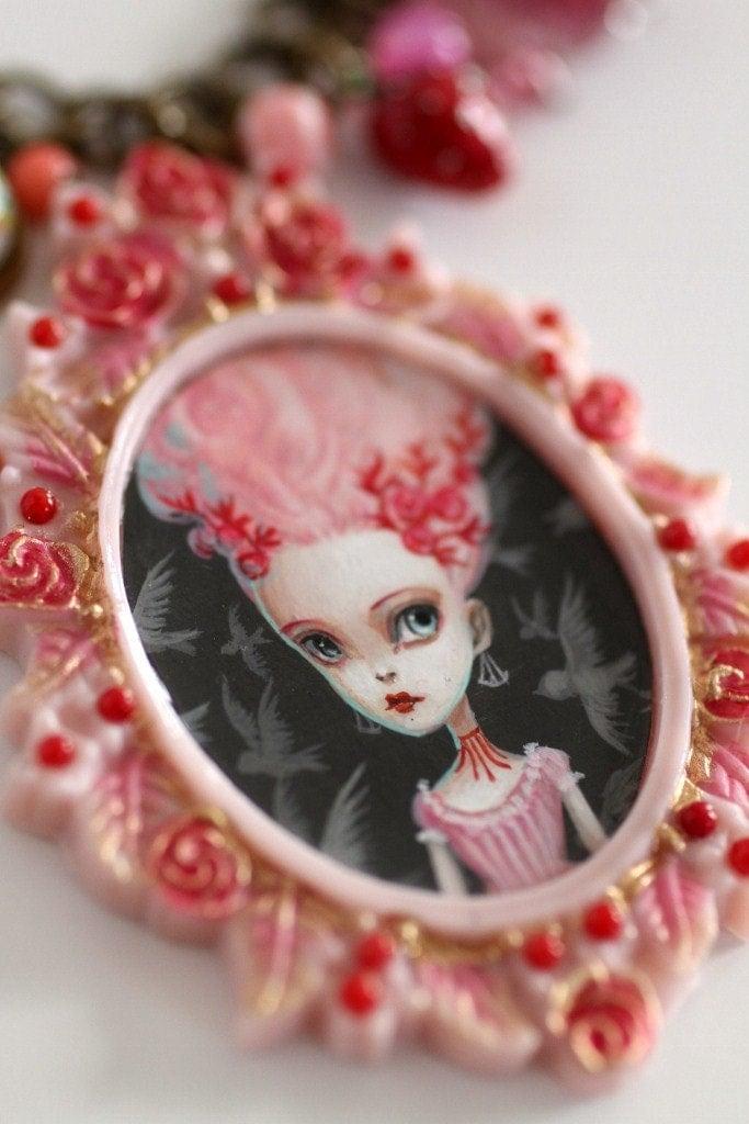 Marie Antoinette And The Cake Original Pop Surrealist Cameo