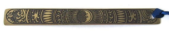 Irish Celtic Bookmark - The Galaxy,Half Moon,Stars,Design taken from Book of Kells