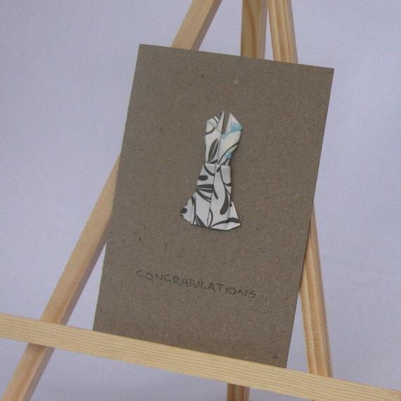 Origami Card - Elegant Dress - Congratulations C6 Size