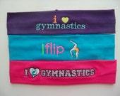 Gymnastics Embroidered Stretch Headband
