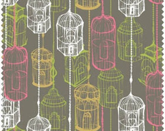 Blend Fabrics, Cushions and dust birdcage (Grey) 11010204 1 1 yard