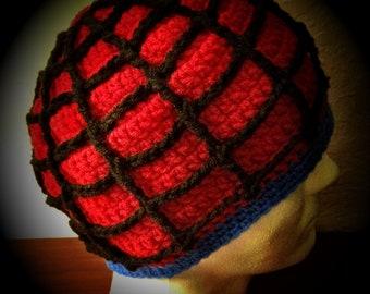 Spider Web themed Crochet Beanie Hat