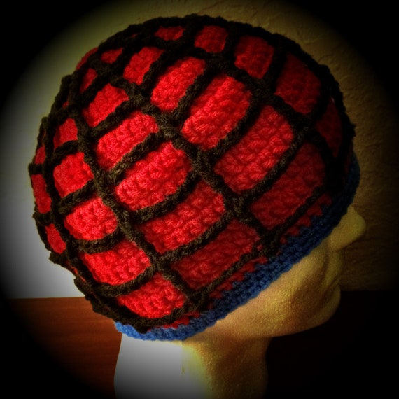 Spider Web themed Crochet Beanie Hat