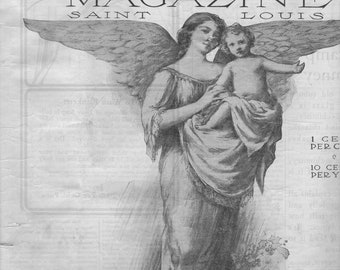 Antique Magazine December 1905 The Woman's Magazine Angel on Front Cover