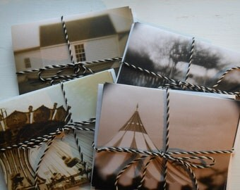 """Photo Note Cards, Set of 12 Folded Note Cards with Envelopes, 4"""" x 5 1/2"""""""