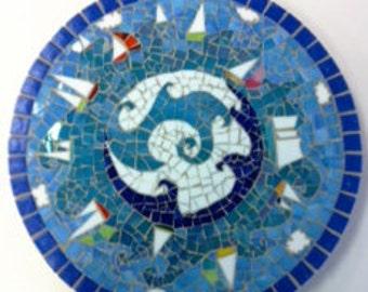 Mosaic Sail the Sea Lazy Susan