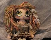 Handmade Hand Crafted Cloth Painted Art Doll Chloe OOAK