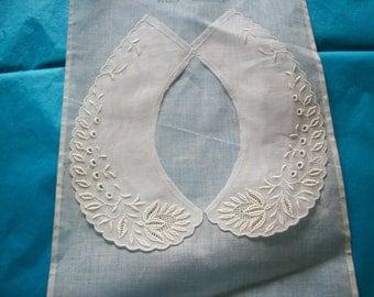 Antique fine cotton organdy collar original salesman's sample