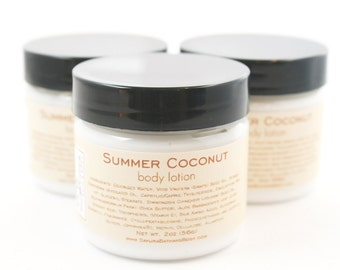 Summer Coconut Milk Body Lotion Sample with Milk and Honey - Shea Butter Body Cream - 2oz
