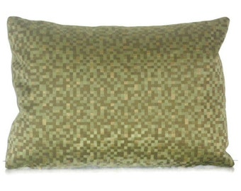 """Pixel Crypton Green  Pillow Cover 12"""" X 16"""""""