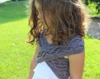 KNITTING PATTERN- Child's Shrug PDF knitting pattern